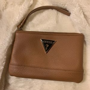 Brown Wristlet by Guess